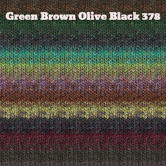 Paradise Fibers Yarn Noro Silk Garden Yarn Green Brown Olive Black 378 - 22