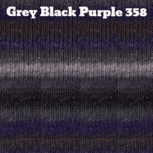 Paradise Fibers Yarn Noro Silk Garden Yarn Grey Black Purple 358 - 8