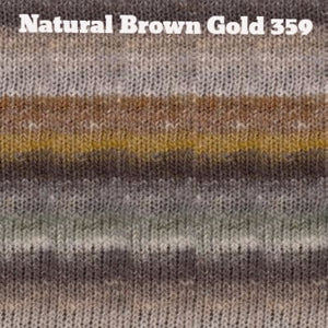 Paradise Fibers Yarn Noro Silk Garden Yarn Natural Brown Gold 359 - 14