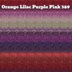 Paradise Fibers Yarn Noro Silk Garden Yarn Orange Lilac Purple Pink 389 - 26