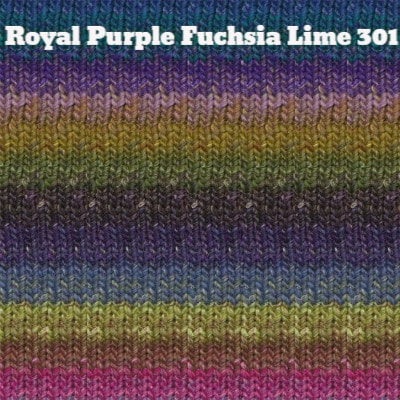 Noro Silk Garden Yarn Royal Purple Fuchsia Lime 301 - 8