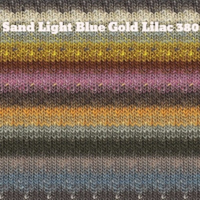 Noro Silk Garden Yarn Sand Light Blue Gold Lilac 380 - 23