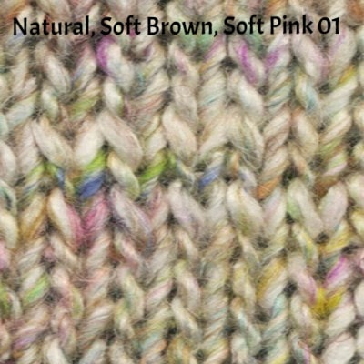 Noro Silk Garden Solo Yarn Natural Soft Brown Soft Pink 01 - 2