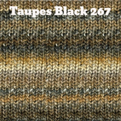 Noro Silk Garden Yarn Taupes Black 267 - 6