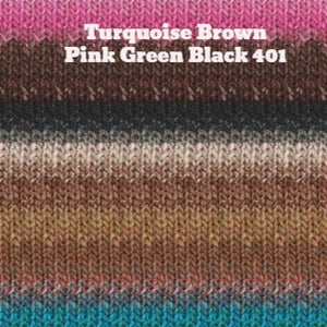Paradise Fibers Yarn Noro Silk Garden Yarn Turquoise Brown Pink Green Black 401 - 30