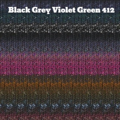 Noro Silk Garden Yarn Black Grey Violet Green 412 - 33