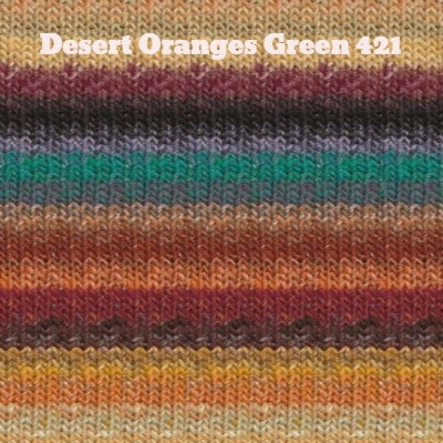 Noro Silk Garden Yarn Desert Oranges Green 421 - 39