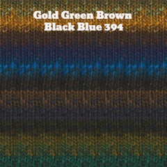 Paradise Fibers Yarn Noro Silk Garden Yarn Gold Green Brown Black Blue 394 - 27
