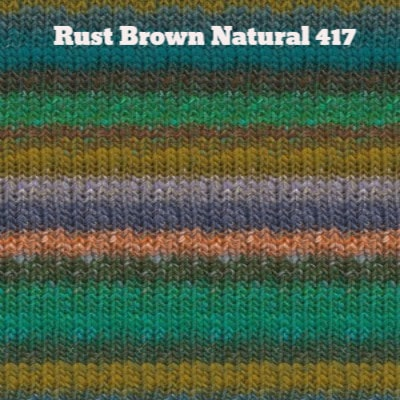 Noro Silk Garden Yarn Rust Brown Natural 417 - 36