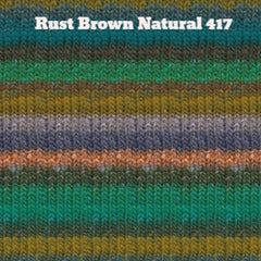 Paradise Fibers Yarn Noro Silk Garden Yarn Rust Brown Natural 417 - 36