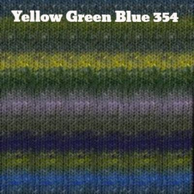 Noro Silk Garden Yarn Yellow Green Blue 354 - 12
