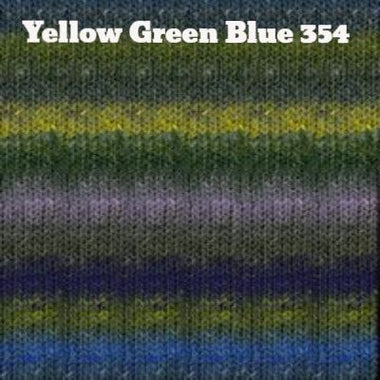 Paradise Fibers Yarn Noro Silk Garden Yarn Yellow Green Blue 354 - 13