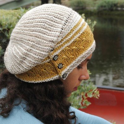Paradise Fibers Pattern Olana Slouch Hat by Grace Akhrem Pattern  - 1