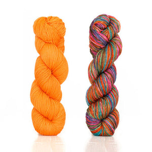 Butterfly papillon shawl 1 skein harvest fingering color Orange 2 skeins uneek fingering 3011