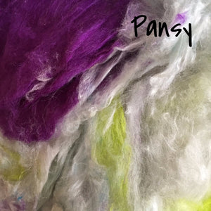 Camaj Hand Dyed Mulberry Silk Cloud- Soffsilk® Pansy / 1oz - 12