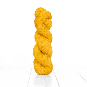 Color Buckthorn, hand-dyed skein of yarn, rustic yellow color produced from natural buckthorn.