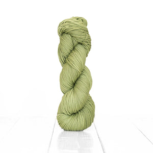 Color Grape Leaf, hand-dyed skein of yarn, celadon color produced from natural grape leaf.