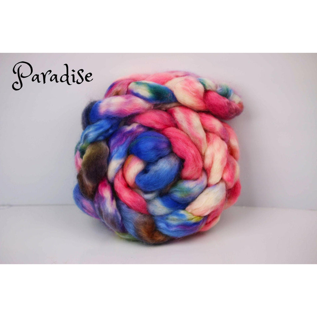 Paradise Fibers Special Yarn Fairy Hand Painted Rovings (4 oz braids) Paradise (BFL/Kid Mohair) - 2