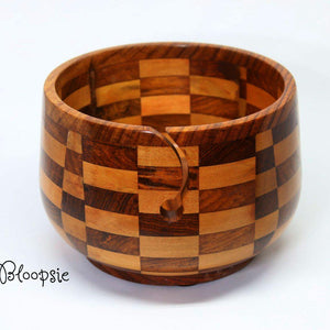 Paradise Fibers Artisan Wooden Yarn Bowls-Knitting Accessory-Bloopsie-