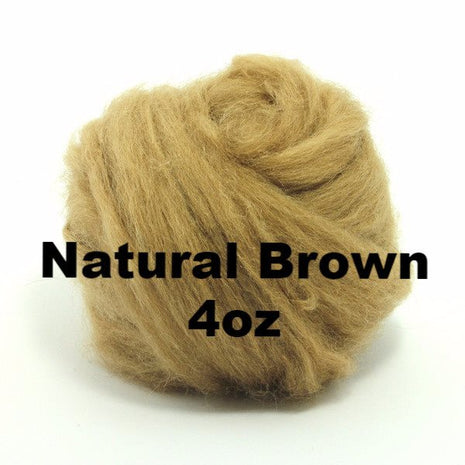 Paradise Fibers Baby Camel Roving (4 oz bag) Natural Brown / 4oz - 3
