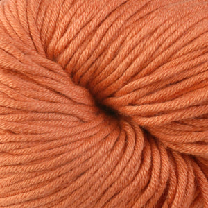 Arcade 1620, a pastel orange skein of Berroco's worsted weight Modern Cotton.