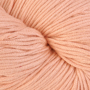 Cumberland 1612, a light coral skein of Berroco's worsted weight Modern Cotton.