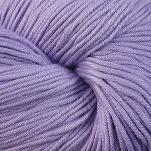 East Bay 1617, a pastel violet skein of Berroco's worsted weight Modern Cotton.