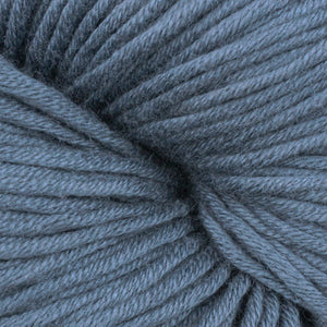 Fisherville Brook 1683, a blue-grey skein of Berroco's worsted weight Modern Cotton.