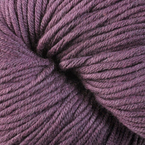 Fort Adams 1671, a plum skein of Berroco's worsted weight Modern Cotton.
