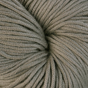 Hammersmith 1613, a tan-grey skein of Berroco's worsted weight Modern Cotton.