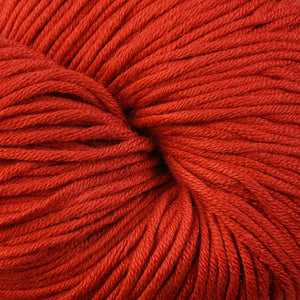 Lighthouse 1643, a heathered orange-red skein of Berroco's worsted weight Modern Cotton.