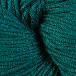 Lippet 1657, a rich turquoise blue skein of Berroco's worsted weight Modern Cotton.