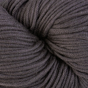 Providence 1667, a dark grey skein of Berroco's worsted weight Modern Cotton.