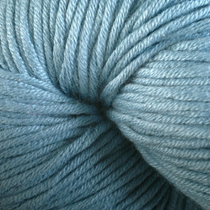 Warbler 1621, a light sky blue skein of Berroco's worsted weight Modern Cotton.