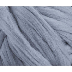 Soft Dyed (Seal) Merino Jumbo Yarn - 7lb Special for Arm Knitted Blankets-Fiber-