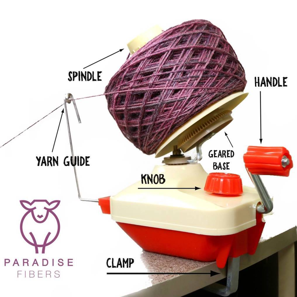 Paradise Fibers Hand-Operated Easy Yarn Ball Winder 4-Ounce