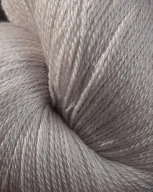 Jagger Spun Zephyr Wool-Silk Natural Yarn - Lace Weight 2/18-Yarn-100g Skein-Pewter-