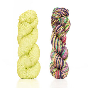 Butterfly/Papillon Shawl Kit featuring UrthYarns-Kits-Pistachio/3018-