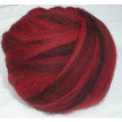 Potluck Roving 8oz Ball Black Crimson PL - 20