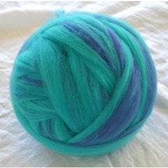 Potluck Roving 8oz Ball Blue Lagoon PL - 2