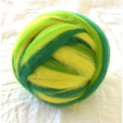 Potluck Roving 8oz Ball Green Fun PL - 3
