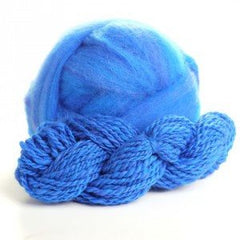 Potluck Roving 8oz Ball Moody Blue PL - 13