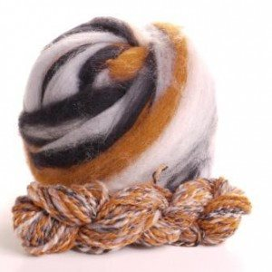 Potluck Roving 8oz Ball Mud Puddle PL - 22