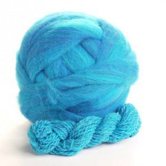 Potluck Roving 8oz Ball Ocean Blue PL - 11