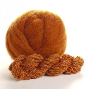 Potluck Roving 8oz Ball Pumpkin Spice PL - 9