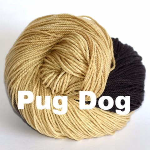 Paradise Fibers Yarn Ancient Arts DK Yarn - Woof Collection Pug Dog - 12