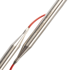 "Chiaogoo Red Lace Steel Circulars 40""  - 2"