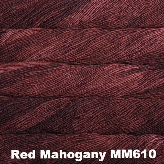 Malabrigo Worsted Yarn Semi-Solids Red Mahogany MM610 - 7