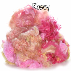 Camaj Hand Dyed Mulberry Silk Cloud- Soffsilk® Rosey / 1oz - 2