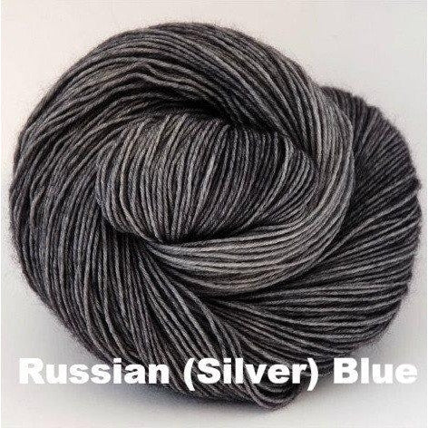 Paradise Fibers Yarn Ancient Arts DK Yarn - Meow Collection Russian (Silver) Blue - 17